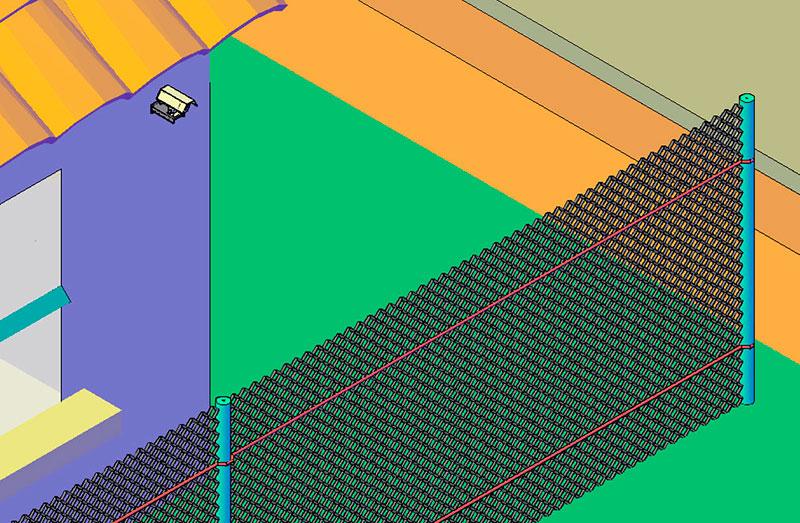 Монтаж оптоволоконного вибросенсора системы охраны коттеджного поселка СВМ-1 на легкое ограждение